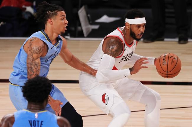 Memphis Grizzlies at Portland Trail Blazers - 8/15/20 NBA Picks and Prediction