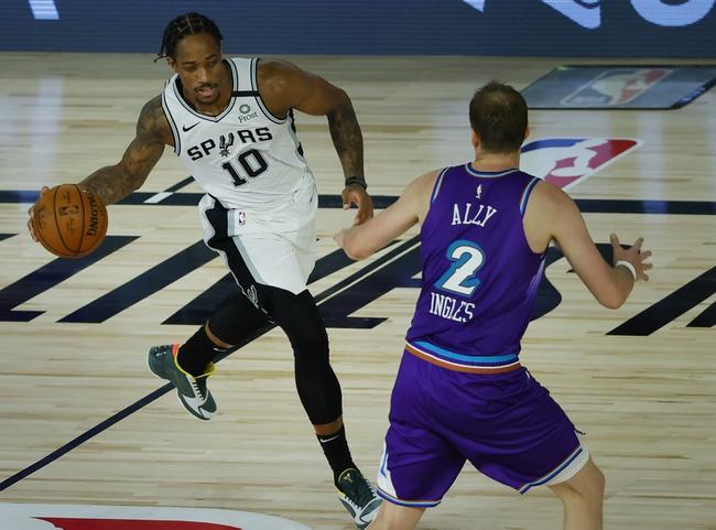 San Antonio Spurs at Utah Jazz - 8/13/20 NBA Picks and Prediction