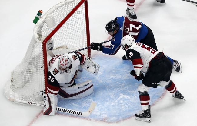 Colorado Avalanche at Arizona Coyotes - 8/15/20 NHL Picks and Prediction