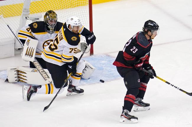 Boston Bruins at Carolina Hurricanes - 8/17/20 NHL Picks and Prediction