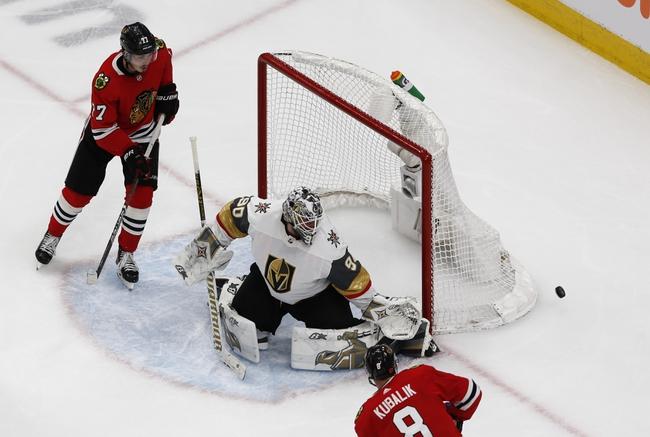 Chicago Blackhawks at Vegas Golden Knights - 8/18/20 NHL Picks and Prediction