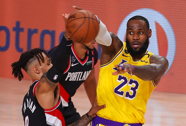 Los Angeles Lakers vs. Portland Trail Blazers - 8/20/20 NBA Pick, Odds, and Prediction