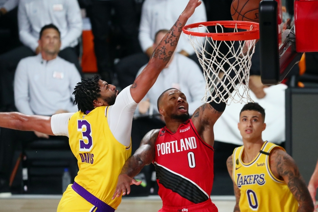 Los Angeles Lakers at Portland Trail Blazers - 8/22/20 NBA Picks and Prediction