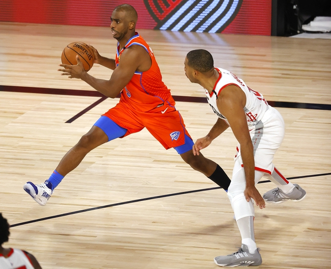 Houston Rockets at Oklahoma City Thunder - 8/24/20 NBA Picks and Prediction