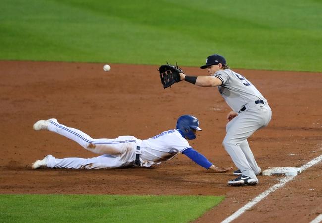 Toronto Blue Jays at New York Yankees - 9/15/20 MLB Picks and Prediction