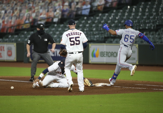 Houston Astros vs. Texas Rangers - 9/17/20 MLB Pick, Odds, and Prediction