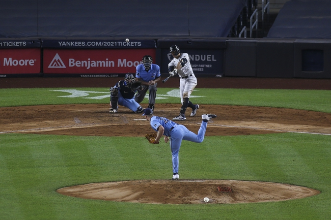 Toronto Blue Jays vs. New York Yankees - 9/21/20 MLB Pick, Odds, and Prediction