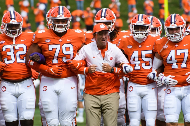 ACC: Virginia at Clemson - 10/3/20 College Football Picks and Prediction