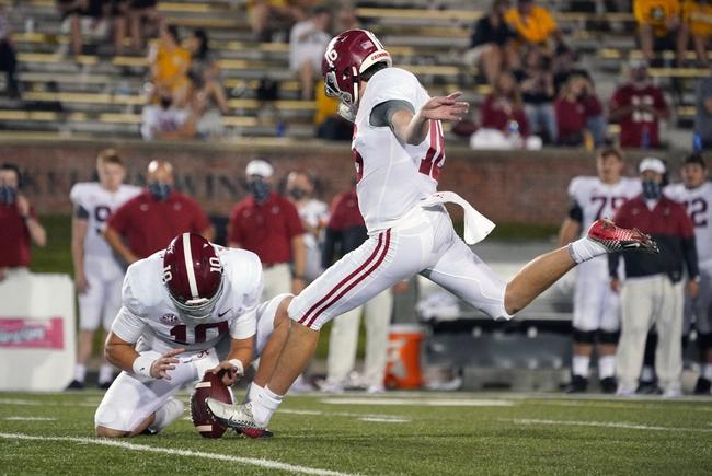 SEC: Texas A&M at Alabama:  10/3/20 College Football Picks and Predictions