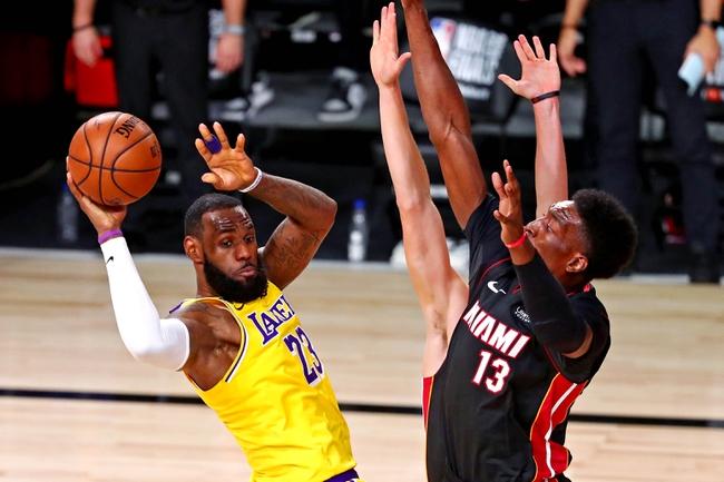 Miami Heat at Los Angeles Lakers NBA Finals Picks and Predictions 10/2/20