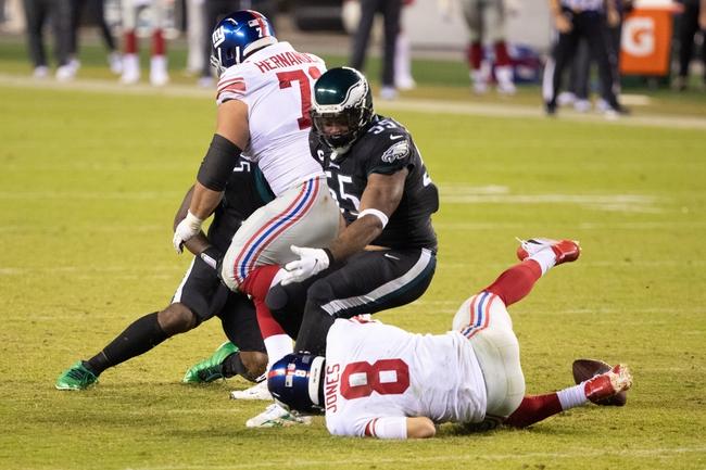 NFC East: New York Giants vs Philadelphia Eagles 11/15/20 NFL Picks, Predictions