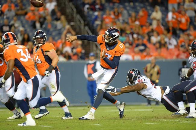 Denver Broncos at Houston Texans- 8/22/15 NFL Pick, Odds, and Prediction