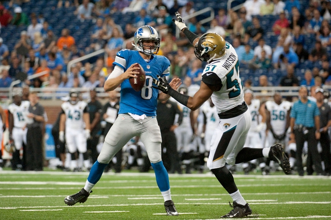 Detroit Lions at Jacksonville Jaguars- 8/28/15 NFL Pick, Odds, and Prediction