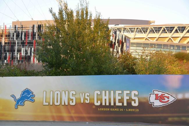 Kansas City Chiefs vs. Detroit Lions - 11/1/15 NFL Pick, Odds, and Prediction