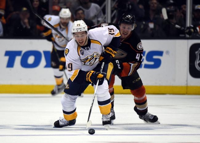 Nashville Predators vs. Anaheim Ducks - 11/12/16 NHL Pick, Odds, and Prediction