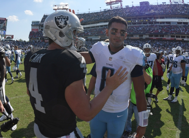Oakland Raiders at Tennessee Titans- 9/10/17 NFL Pick, Odds, and Prediction