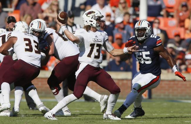 Louisiana-Monroe vs. South Alabama - 11/5/16 College Football Pick, Odds, and Prediction