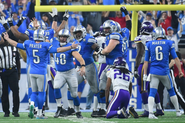 Detroit Lions at Minnesota Vikings - 10/1/17 NFL Pick, Odds, and Prediction