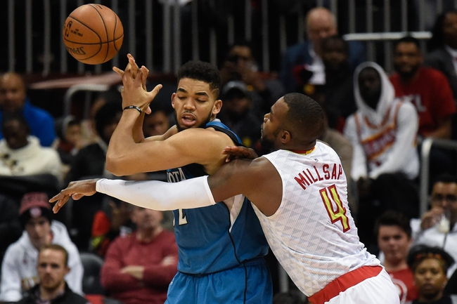 Minnesota Timberwolves vs. Atlanta Hawks - 12/26/16 NBA Pick, Odds, and Prediction