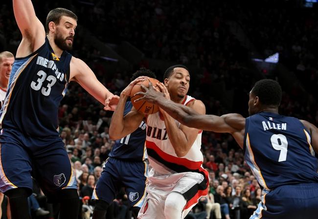 Portland Trail Blazers vs. Memphis Grizzlies - 11/7/17 NBA Pick, Odds, and Prediction