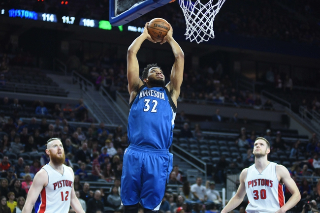Detroit Pistons vs. Minnesota Timberwolves - 10/25/17 NBA Pick, Odds, and Prediction