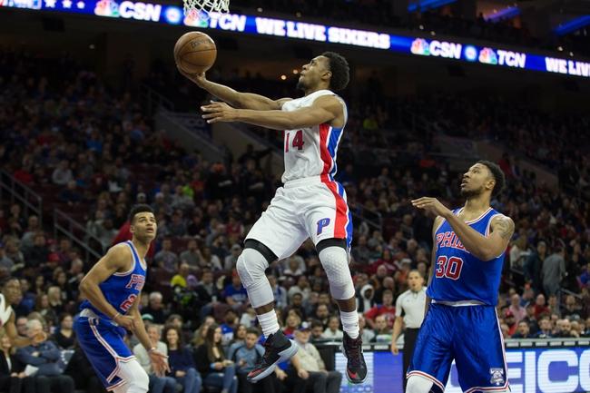 Detroit Pistons vs. Philadelphia 76ers - 10/23/17 NBA Pick, Odds, and Prediction
