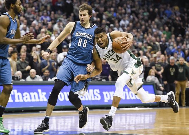Milwaukee Bucks vs. Minnesota Timberwolves - 12/28/17 NBA Pick, Odds, and Prediction